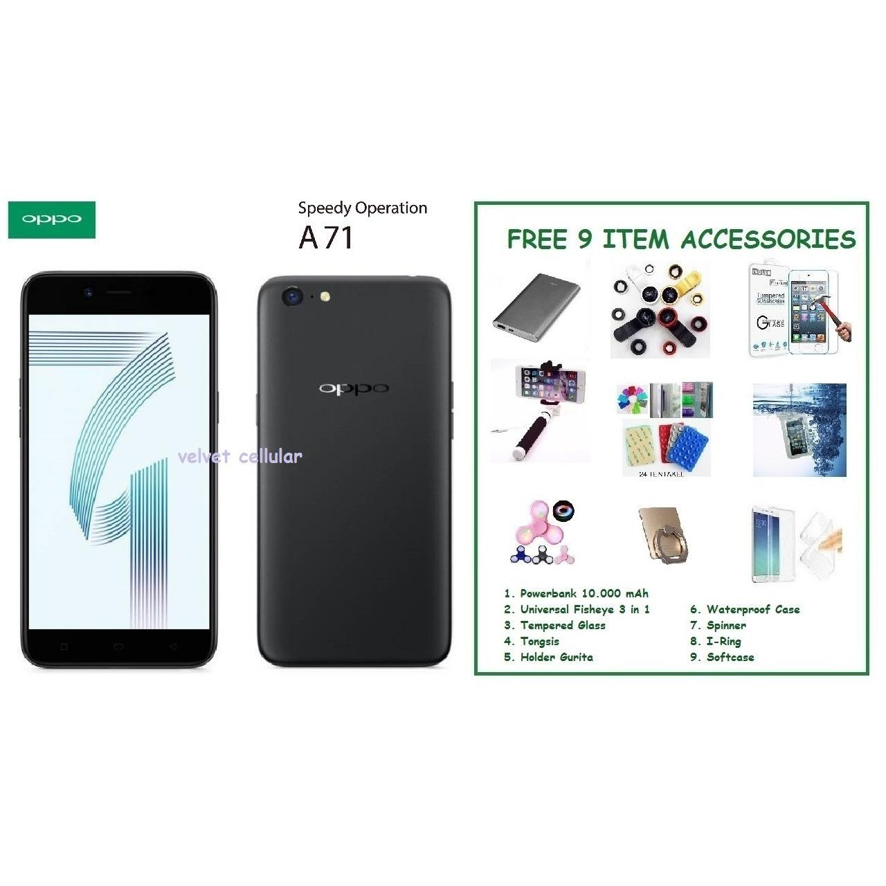 OPPO A71 (2018) [3/32GB] + FREE 9 ITEM ACCESSORIES
