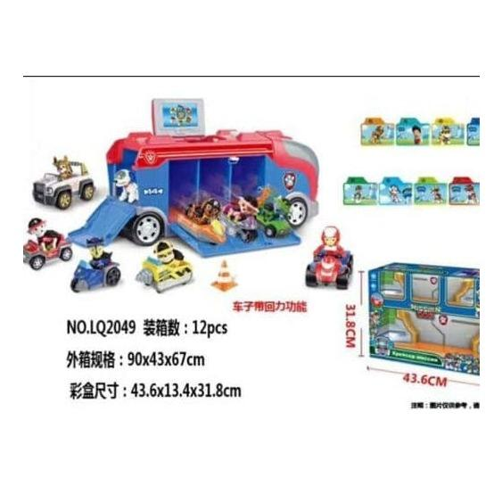 MAINAN ANAK PAW PATROL MISSION CARS LOOKOUT PARKING LOT DOG HEROES BOX