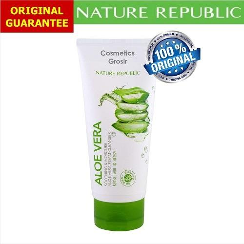 Spesifikasi Nature Republic Aloe Vera Foam Cleanser 150Ml Original Yang Bagus