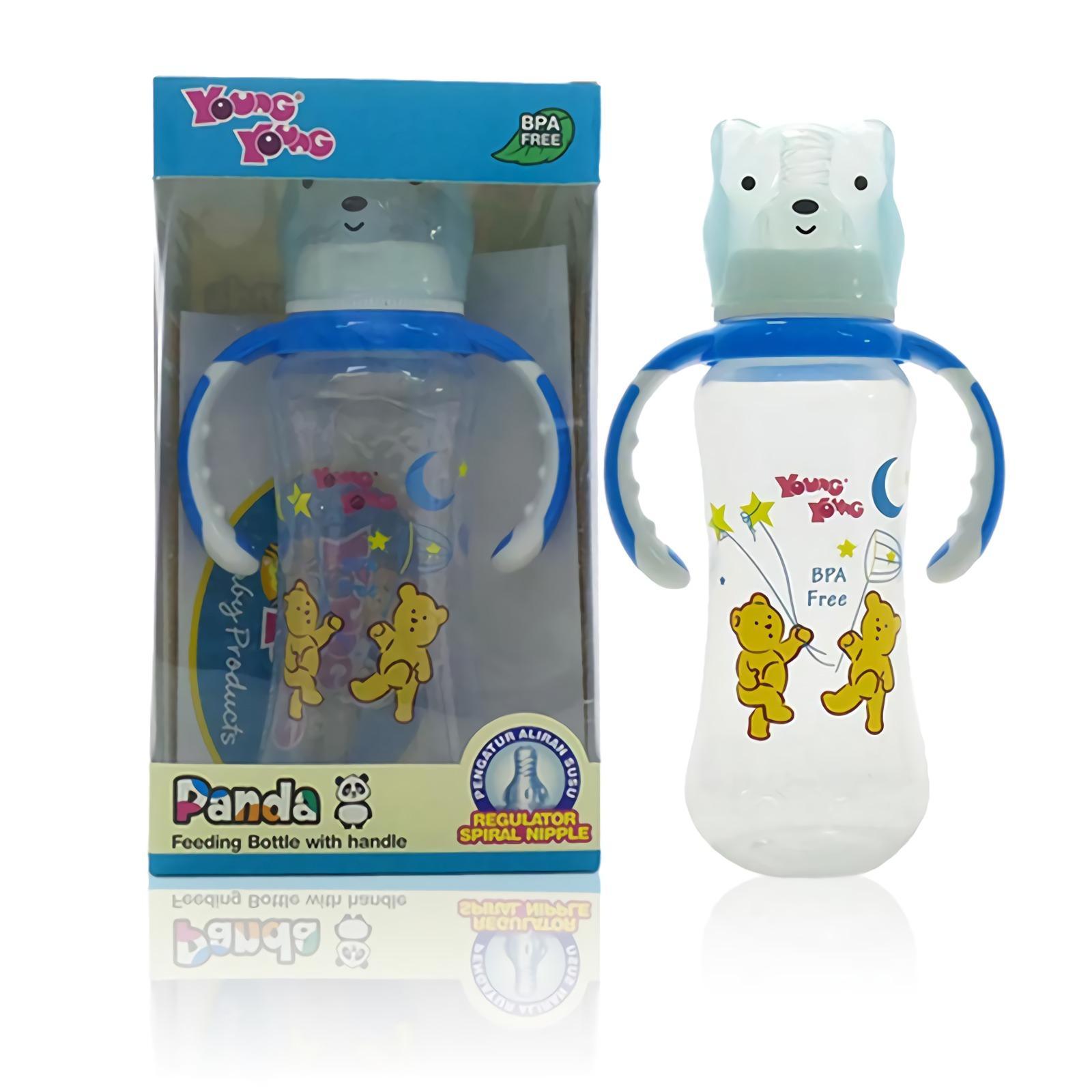 YOUNG YOUNG Botol Susu [250ML] Panda Feeding Bottle Handle Asi BPA Free IL-