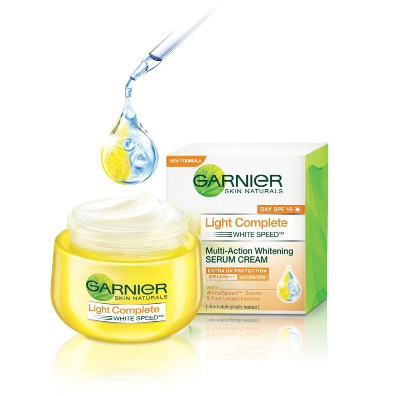 Garnier Light Complete Multi Action Whitening Serum Cream spf 19 isi 18ml ,