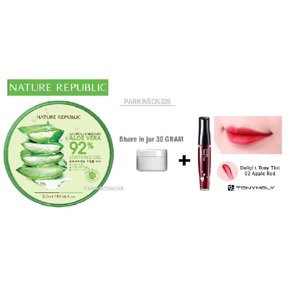 Harga Nature Republic Soothing Moisture Aloe Vera 92 Gel Original Korea Share In Jar 30 Gram Tony Moly Delight Tint Original 02 Apple Red 1 Buah Free Packing Bubble Wrap Asli