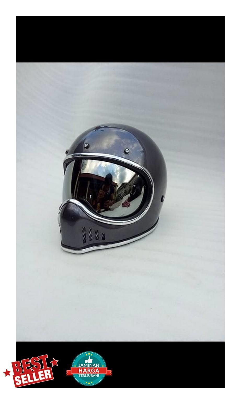 Fitur Helm Custom Cakil Xbone With Space Visor Dan Harga Terbaru Hbc Rust Dust Hitam Doff Emas Detail Gambar