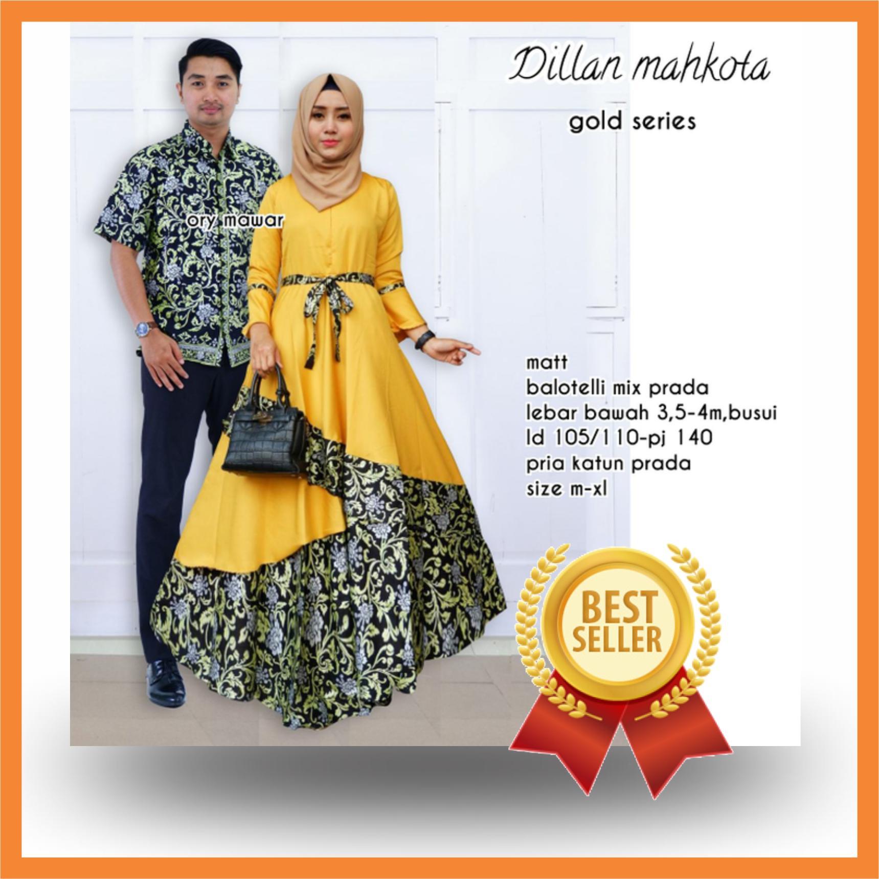 Cek Harga Baru Baju Muslim Couple Batik Sabrina Seragam Pesta Hijab Modern Sarimbit Kemeja