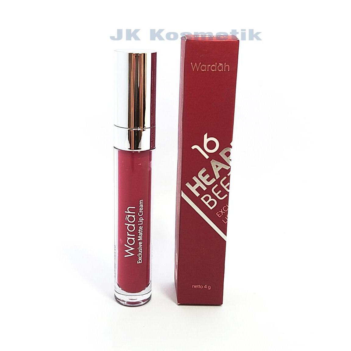 Cek Harga Baru Wardah Exclusive Lip Cream Matte No 16 Heartbeet Lipstick Creamy