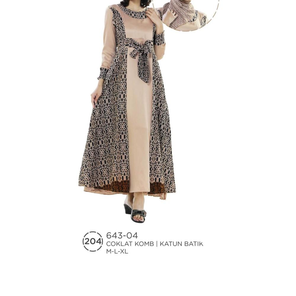 SALE GAMIS SYARI WANITA LONG DRESS CEWEK MUSLIMAH MOTIF BATIK KEREN UKURAN M-XL ASLI ORIGINAL MURAH UNIK