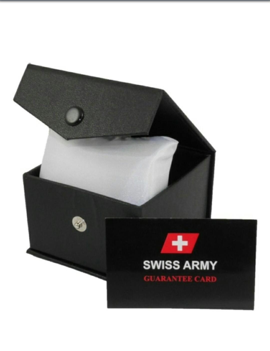 Swiss Army Tanggal - Jam Tangan Pria & Wanita - Tali Kanvas - Terbaru - 3