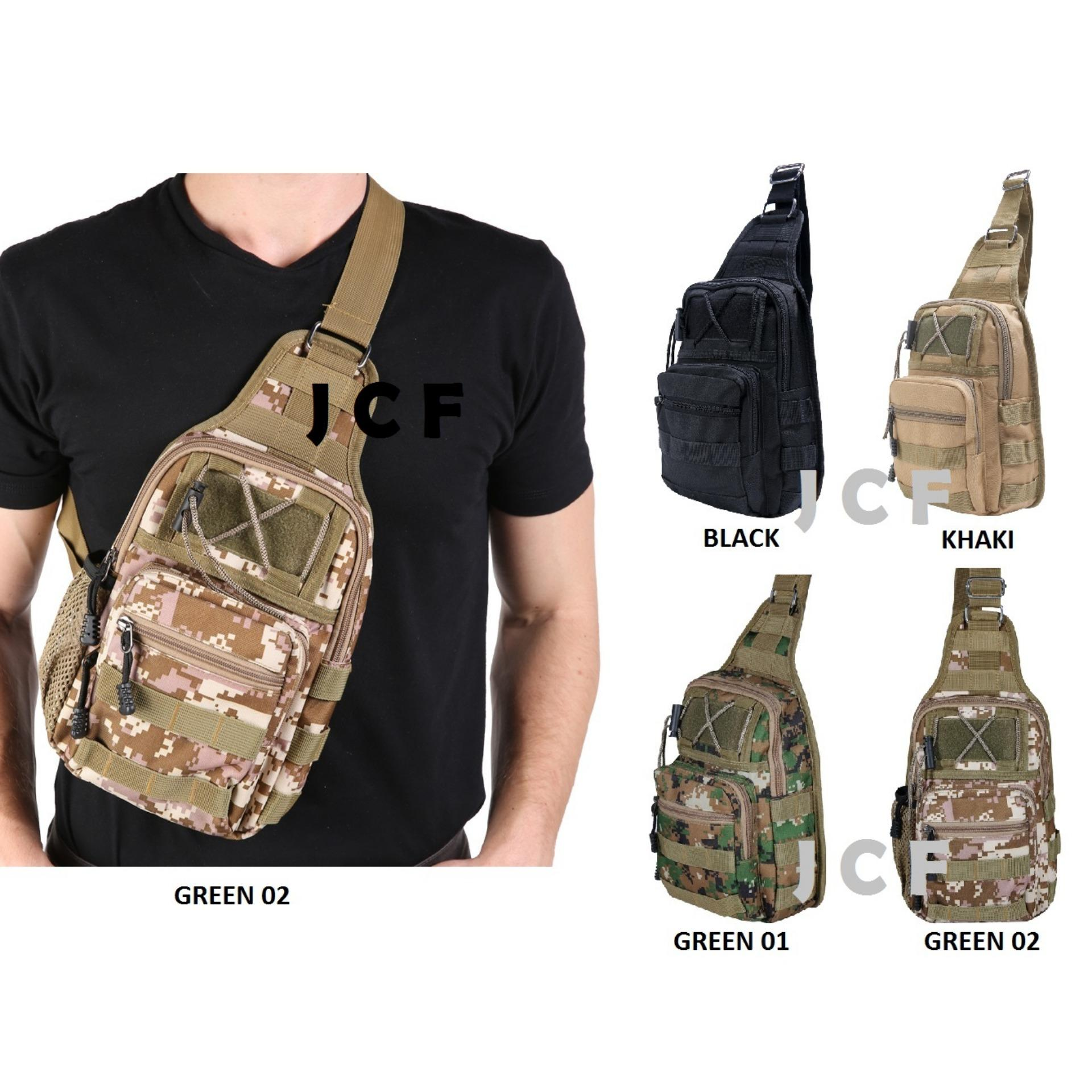 JCF Tas Slempang Import Cowok Pria Army Tactical Sling Waist Messenger  Shoulder Bag . b256eb3fa8
