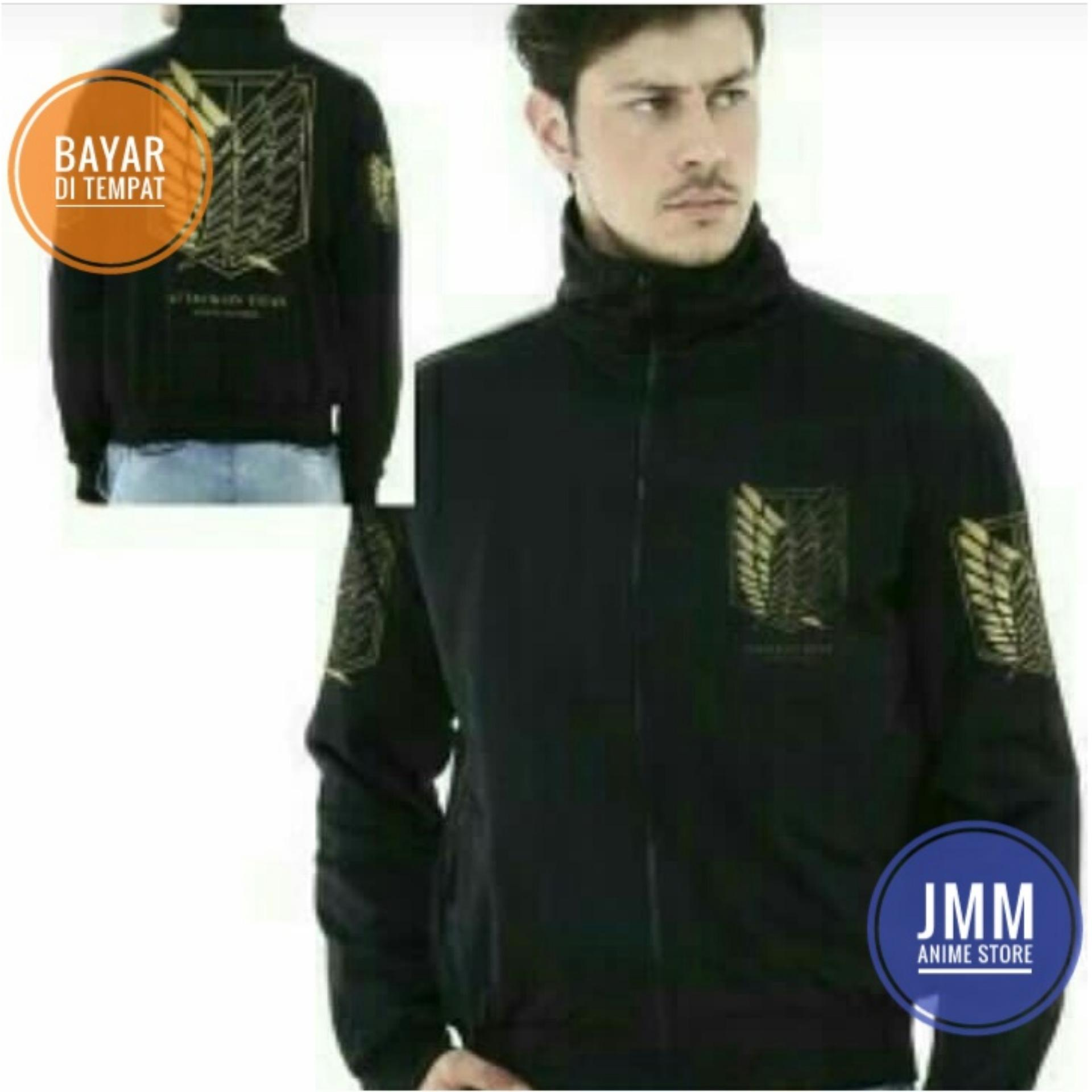 Jual Jaket Anime Attackontitan Hi Neck Hitam Online