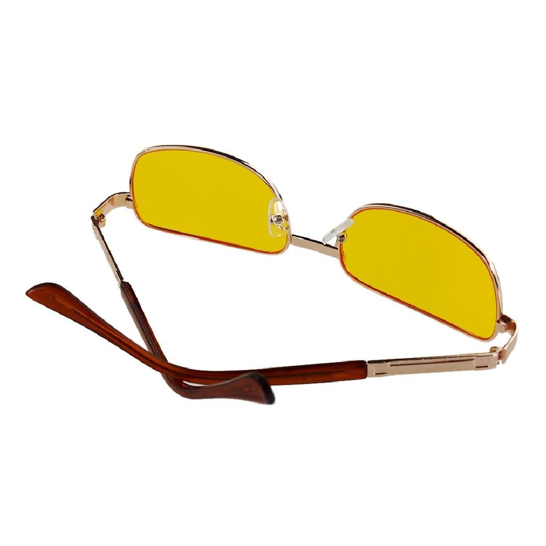 ... Fashion Sempit Bingkai Modus Malam Mengemudi Emas Bingkai Kacamata ( Kuning) - 4 ...