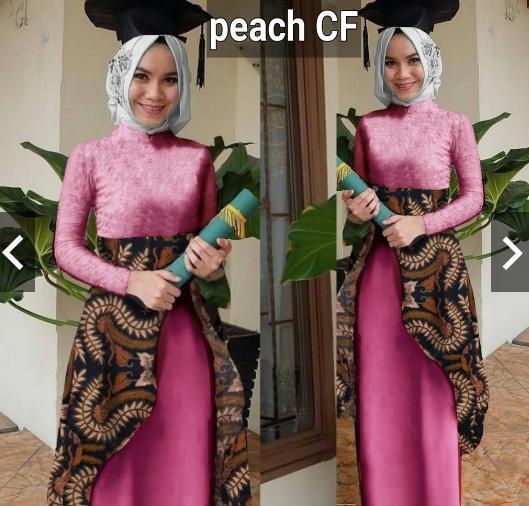 IndonesiaHeritage Gamis Pesta Batik Pesta Wanita - Setelan Kebaya Batik Modern Wisuda Formal - Gaun Pesta