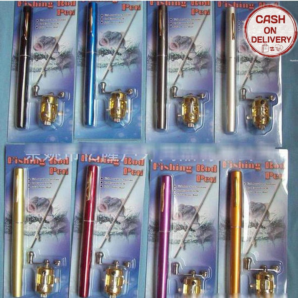Kado Unik-- Color Fish Rod Pen Pocket Fishing / Alat Pancing / Alat Pancing Portable / Mini Portable Pocket Fish Pen Aluminum / Pancing Pena Murah