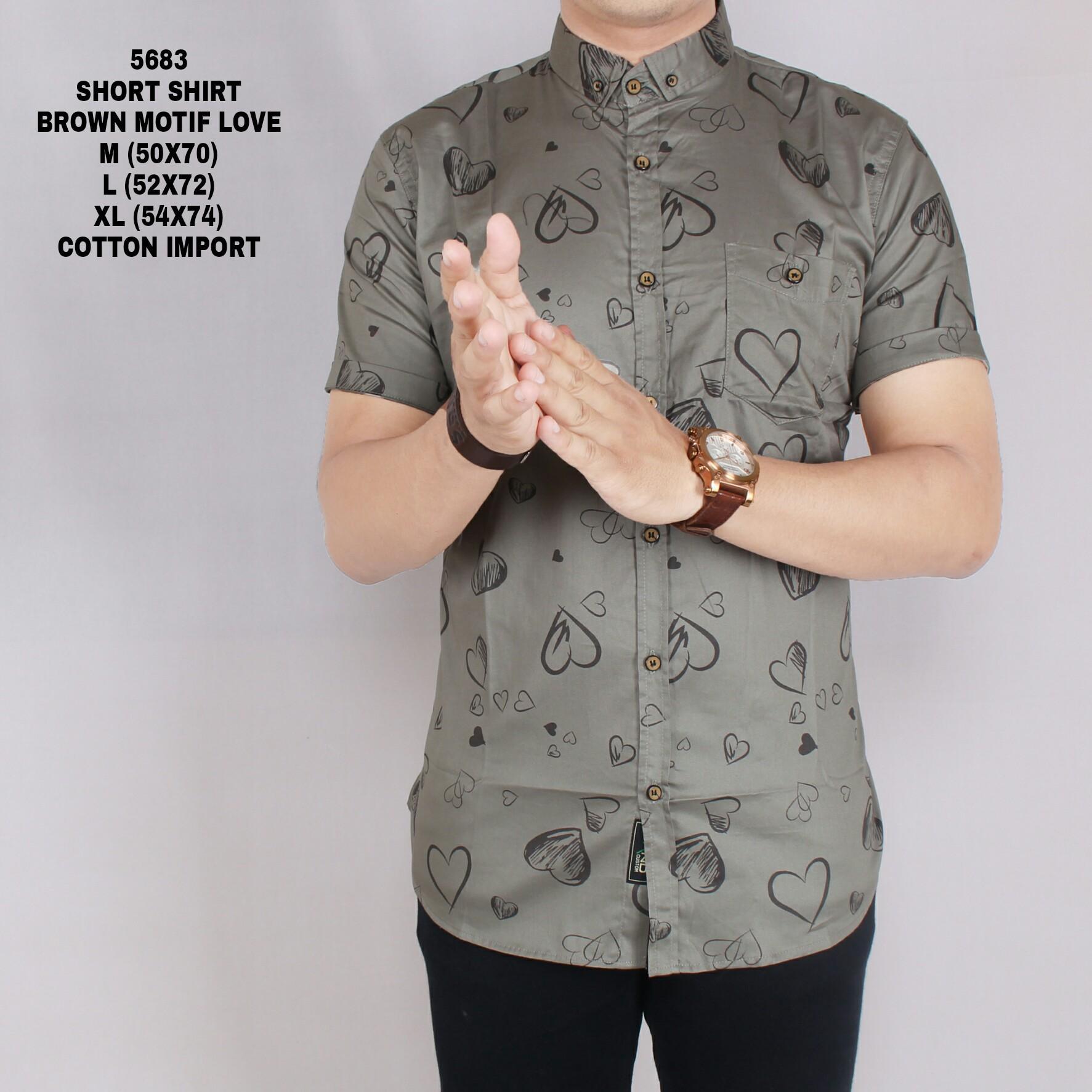 Cek Harga Baru Zoeystore1 5577 Kemeja Polos Pria Lengan Pendek Kaos Haji Umrah Exclusive 5683 Printing Baju Print Cowok Kerja Kantoran Formal