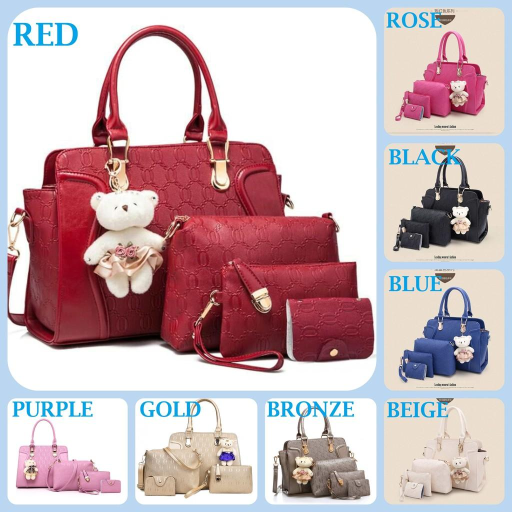 TAS FASHION SET 4 IN 1 IMPORT JK U451