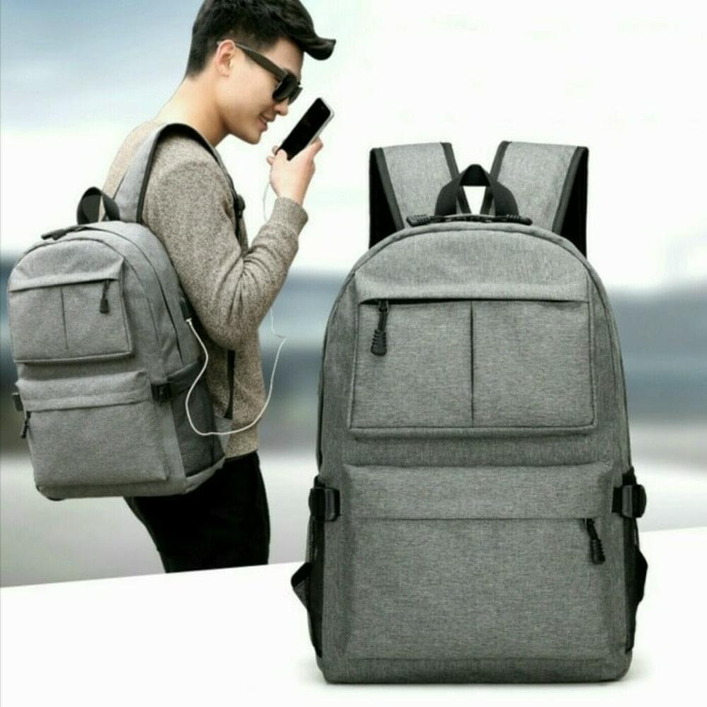 tas ransel pria wanita - tak punggung cewek cowok - tas backpack import murah - tas sekolah kuliah - tas laptop ipad gadget - natal branded batam di lapak pelangi_bag bagusia08