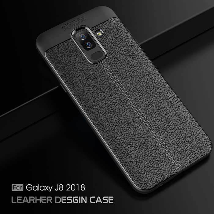 Case Samsung J8 2018 softcase casing back cover tpu LEATHER AUTO FOCUS