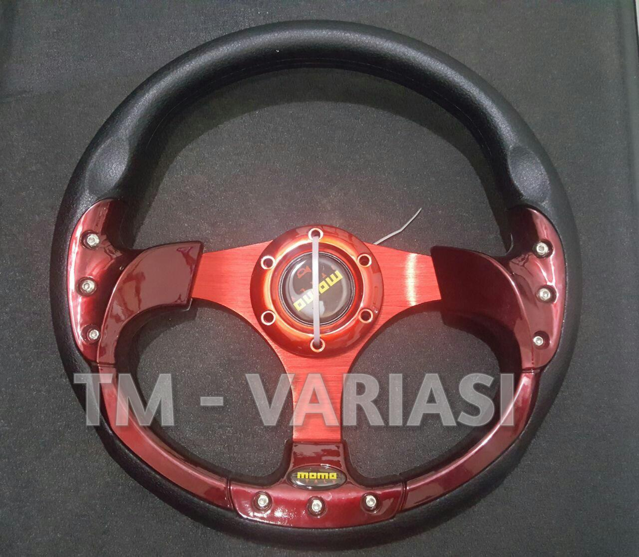 Fitur Stir Racing Import Drifting Carbon Celong 14 Inchi List Biru Momo 13 Merah Motif Rendah Universal