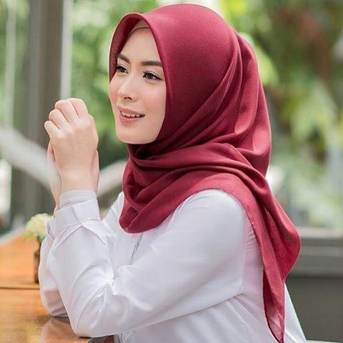 Hijab Bahan Voal Polos 58