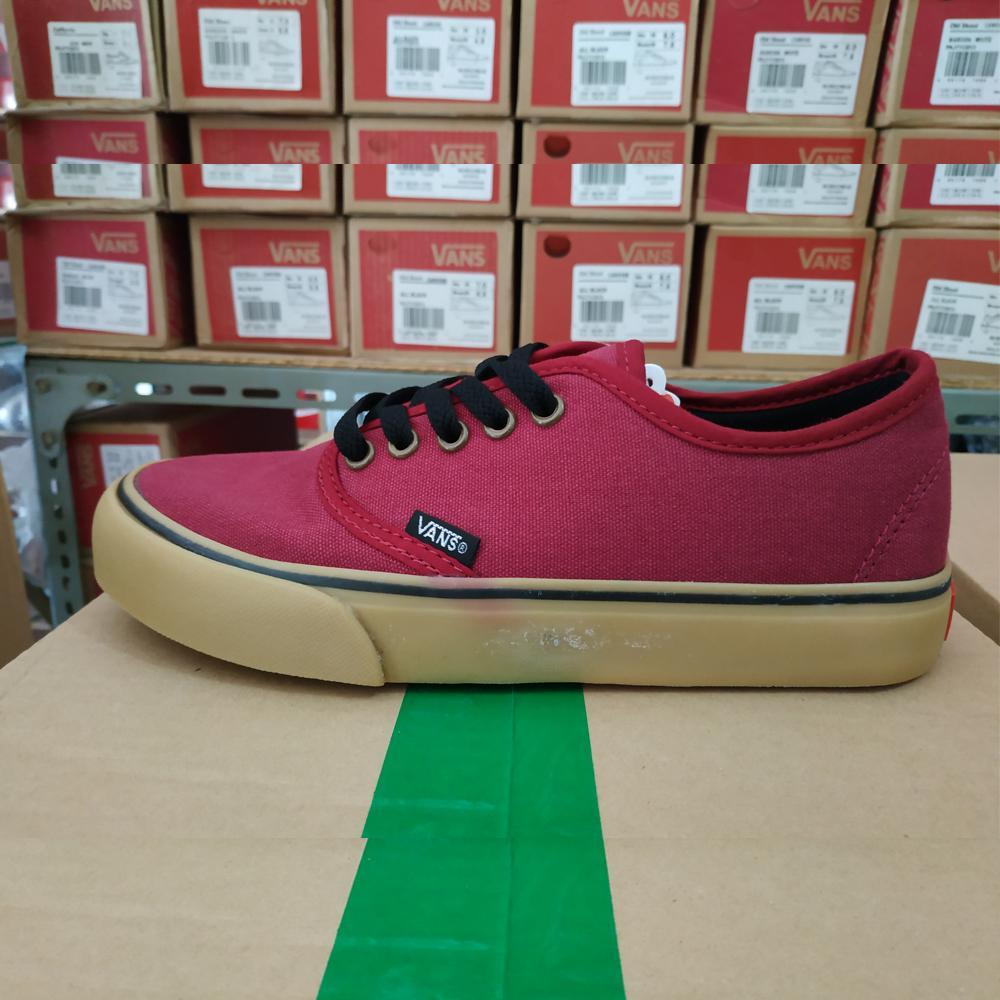 Detail Gambar Zacksho Sepatu Vans California Gum Authentic Sneakers casual  MARUN GUM Sekolah Made In Vietnam 9f821a84ce