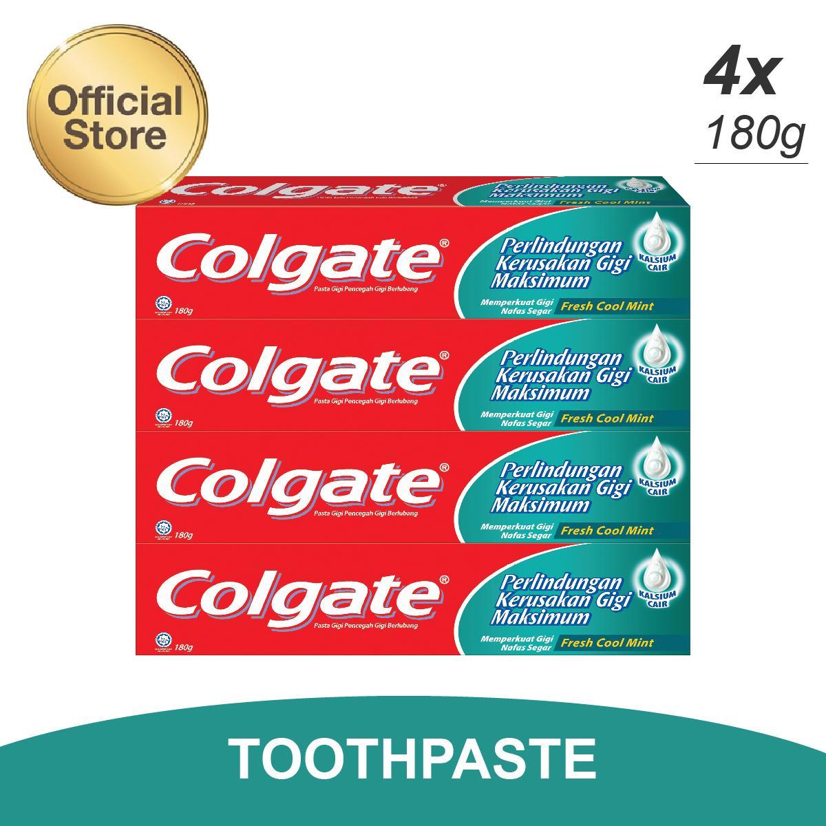 Kelebihan Ciptadent Pasta Gigi Fresh Spring Mint 75g Terkini Closeup Deep Action Menthol 160g Colgate Maximum Cavity Protection Cool Toothpaste 180g Multipacks 4