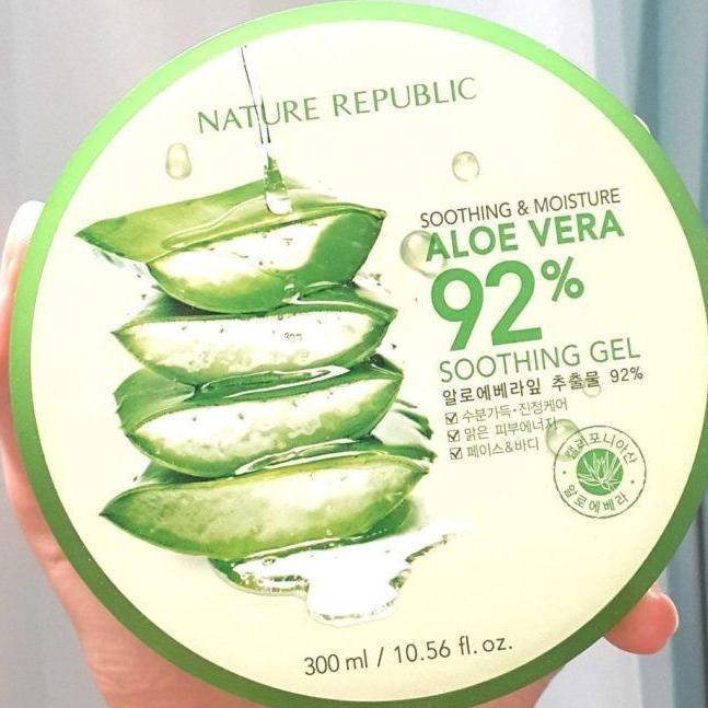 Krim Lidah Buaya ASLI Nature Republic Aloe Vera 92% Soothing Gel