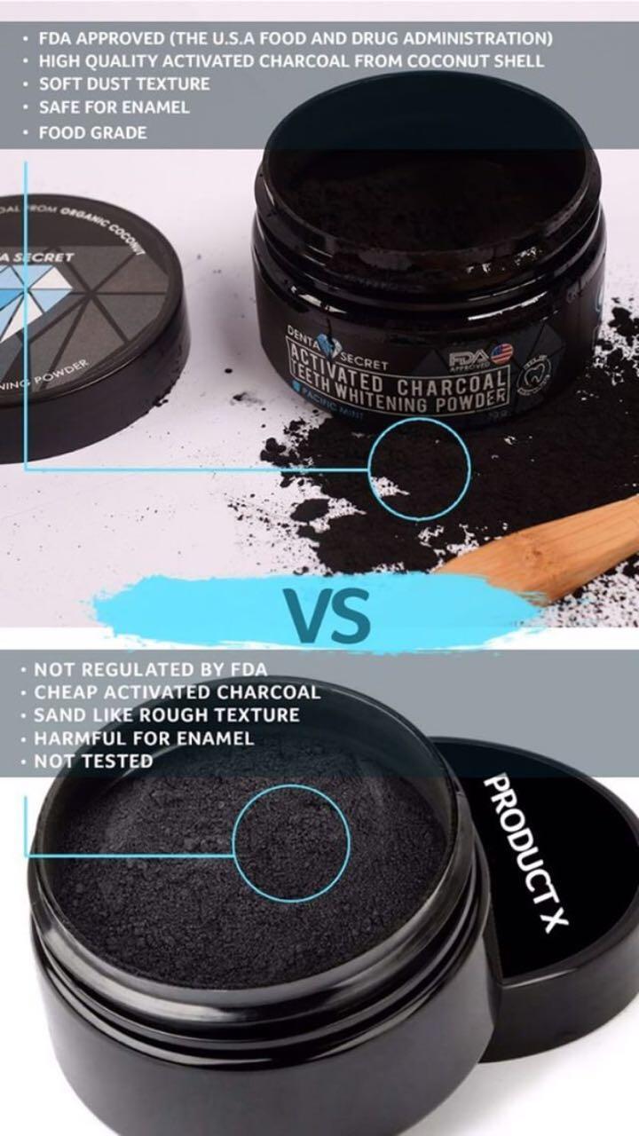 ... PEMUTIH GIGI Charcoal Teeth Whitening Powder - 4 ...