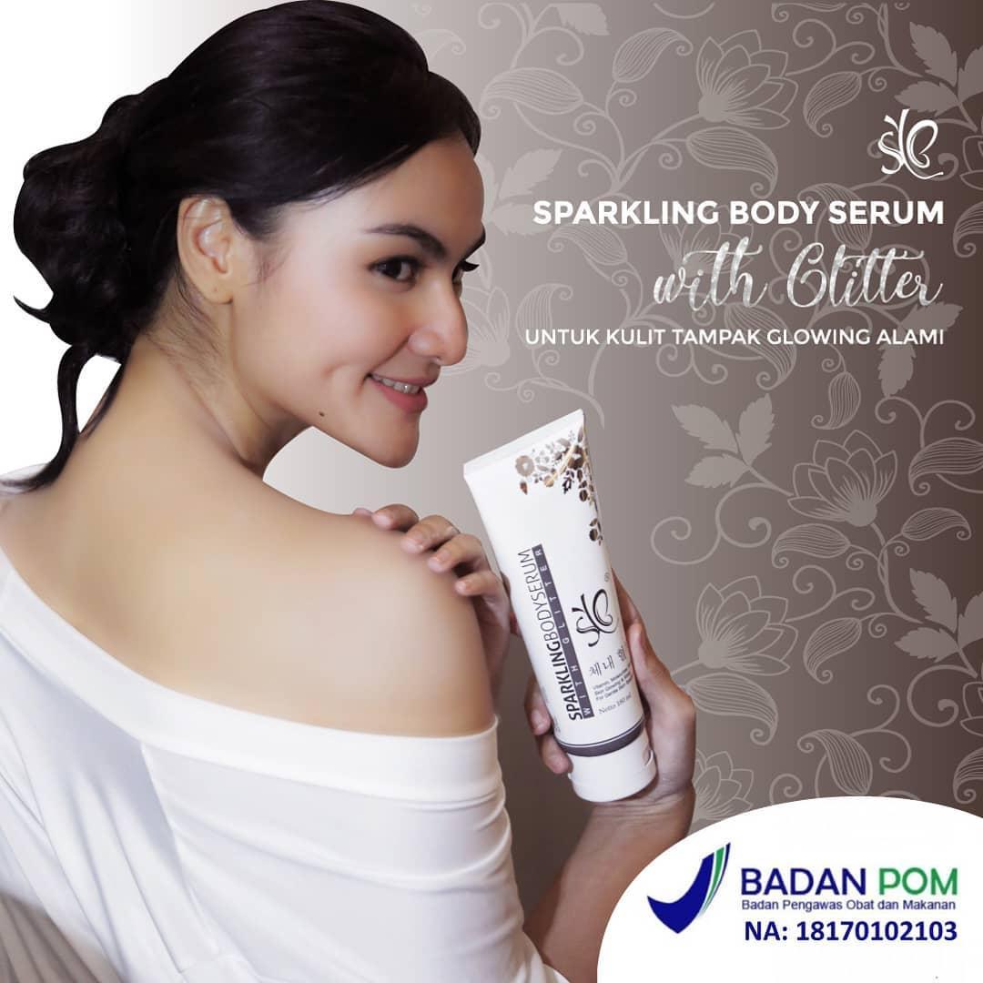Features Sparkling Body Serum By Syb Bpom Pemutih Tubuh Instant Glow Badan Fair N Pink 160ml Isi 180ml Whitening Laz Cod