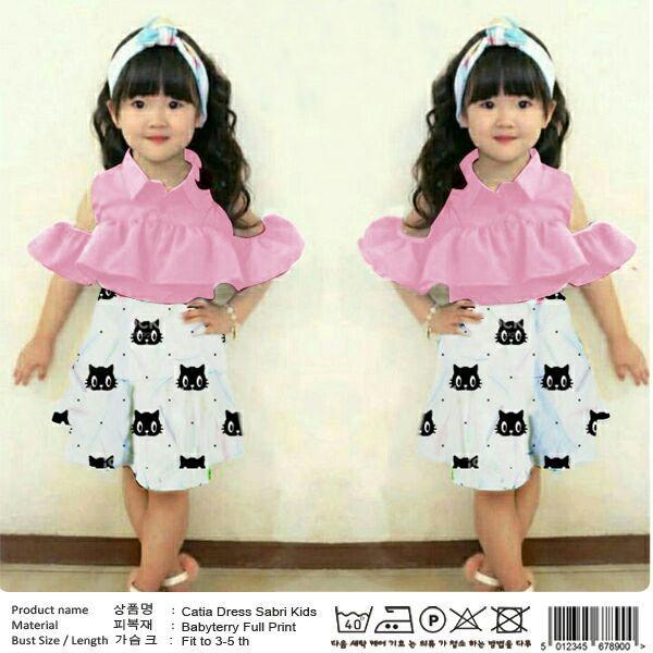 Toko Pasar Potensi | Catia Dress Sabri Kids Pink