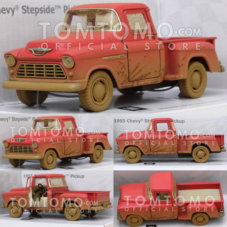 Chevy Stepside Dirty Tomtomo Pickup Diecast Miniatur Mobil Mobilan Klasik Antik Classic Kado Mainan Anak Cowok