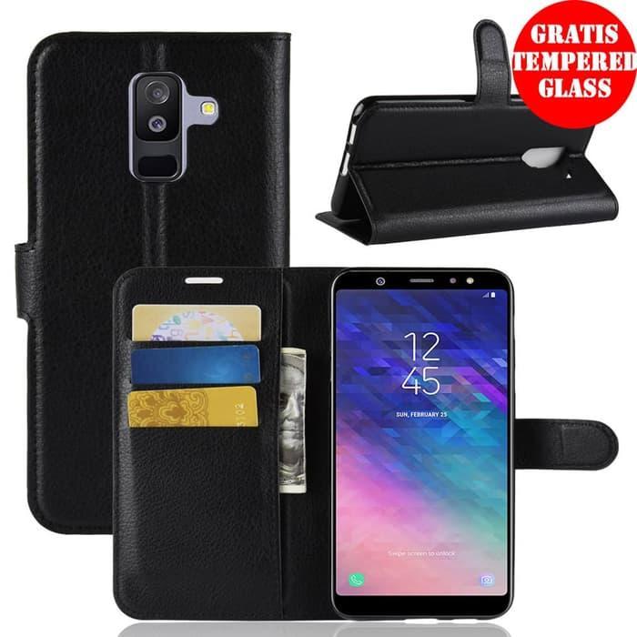 Thalliah Samsung Galaxy A6 Plus 2018 Dompet Kulit PU Flip Case /case samsung galaxy a6
