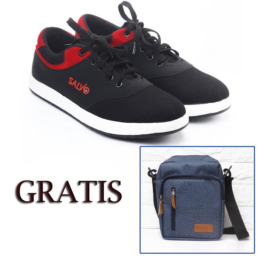 Salvo sepatu kets sneakers dan kasual pria / sepatu kasual kanvas / sepatu sneaker pria /
