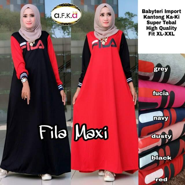 Features Baju Muslim Original Gamis Fila Two Dress Combad Baju