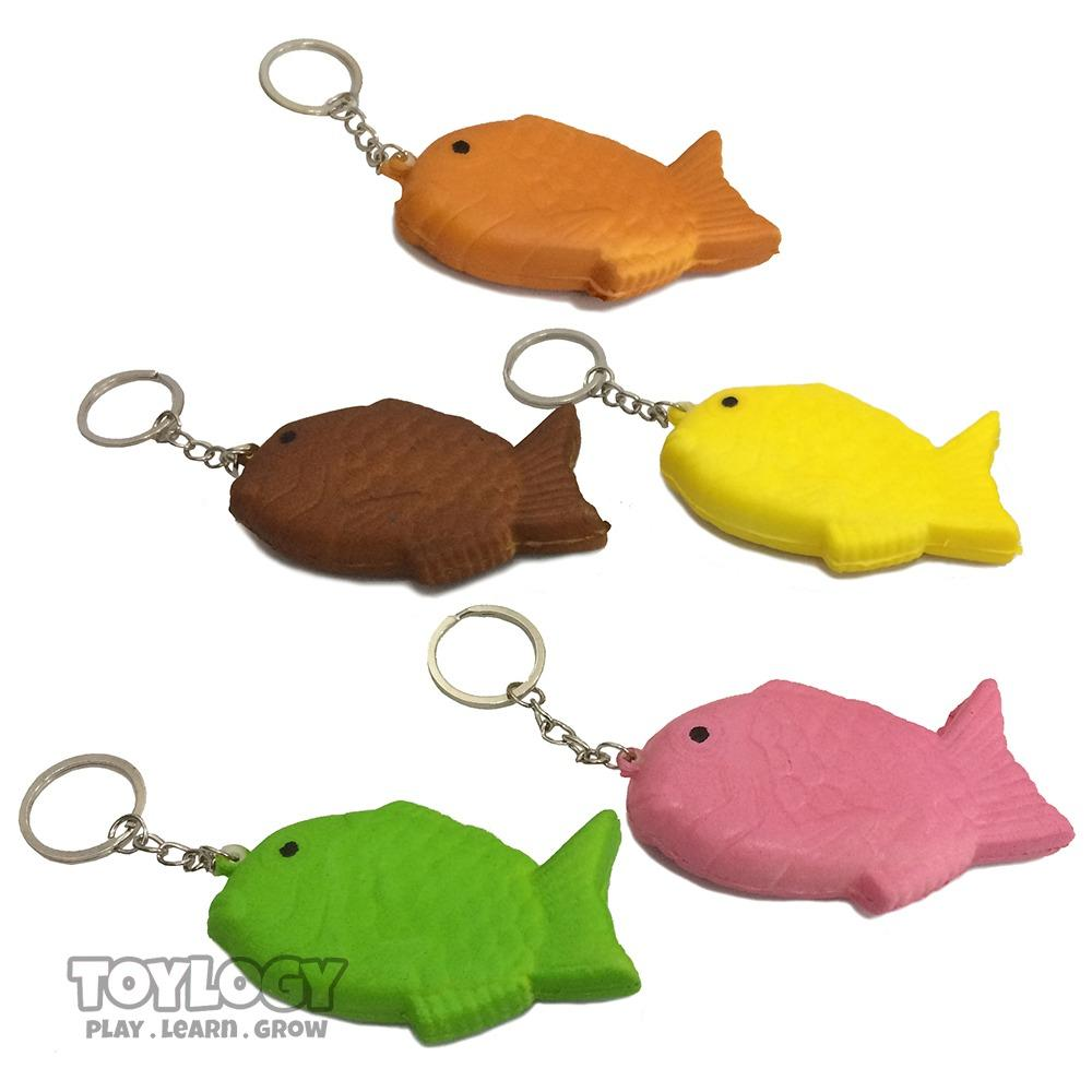 Squishy Gantungan Kunci Kue Ikan ( Squishy Simulation Fish Cake Emoticon Slow Rising Squishy Fun Toys