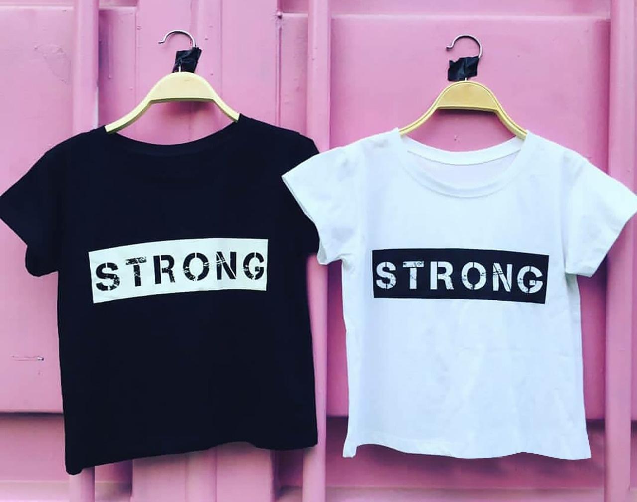 Kafis Shop - Strong Crop Tee - TShirt Wanita