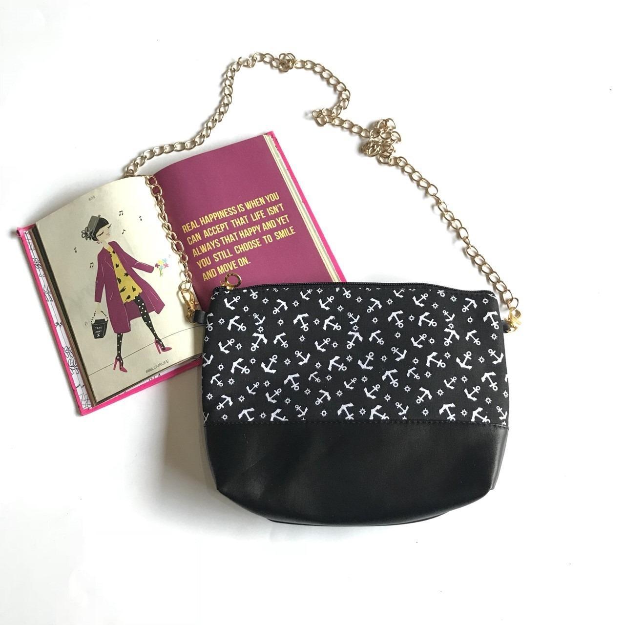 Sling Bag Wanita Polos Motif Rantai