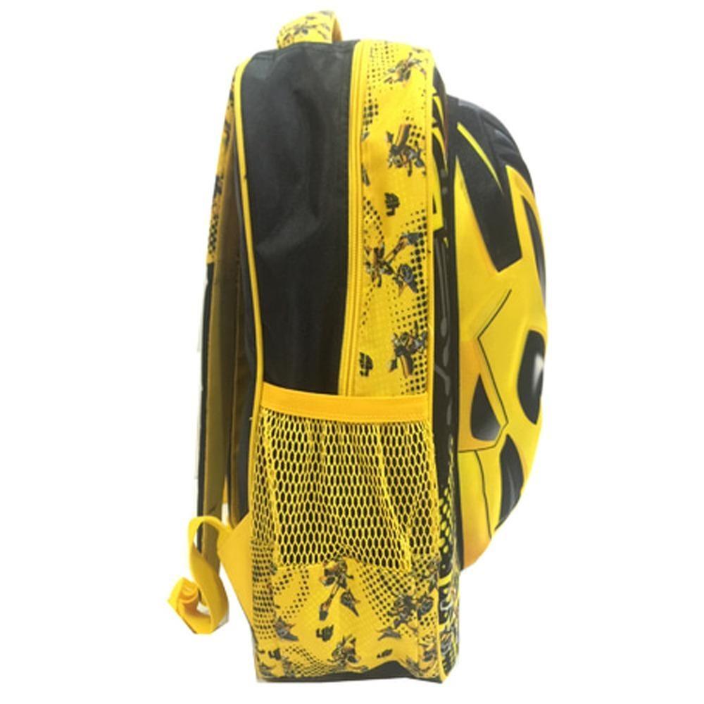 ... BGC Transformer Bumble Bee 3D + Rain Cover Timbul Hard Cover Tas Ransel Sekolah Anak SD ...