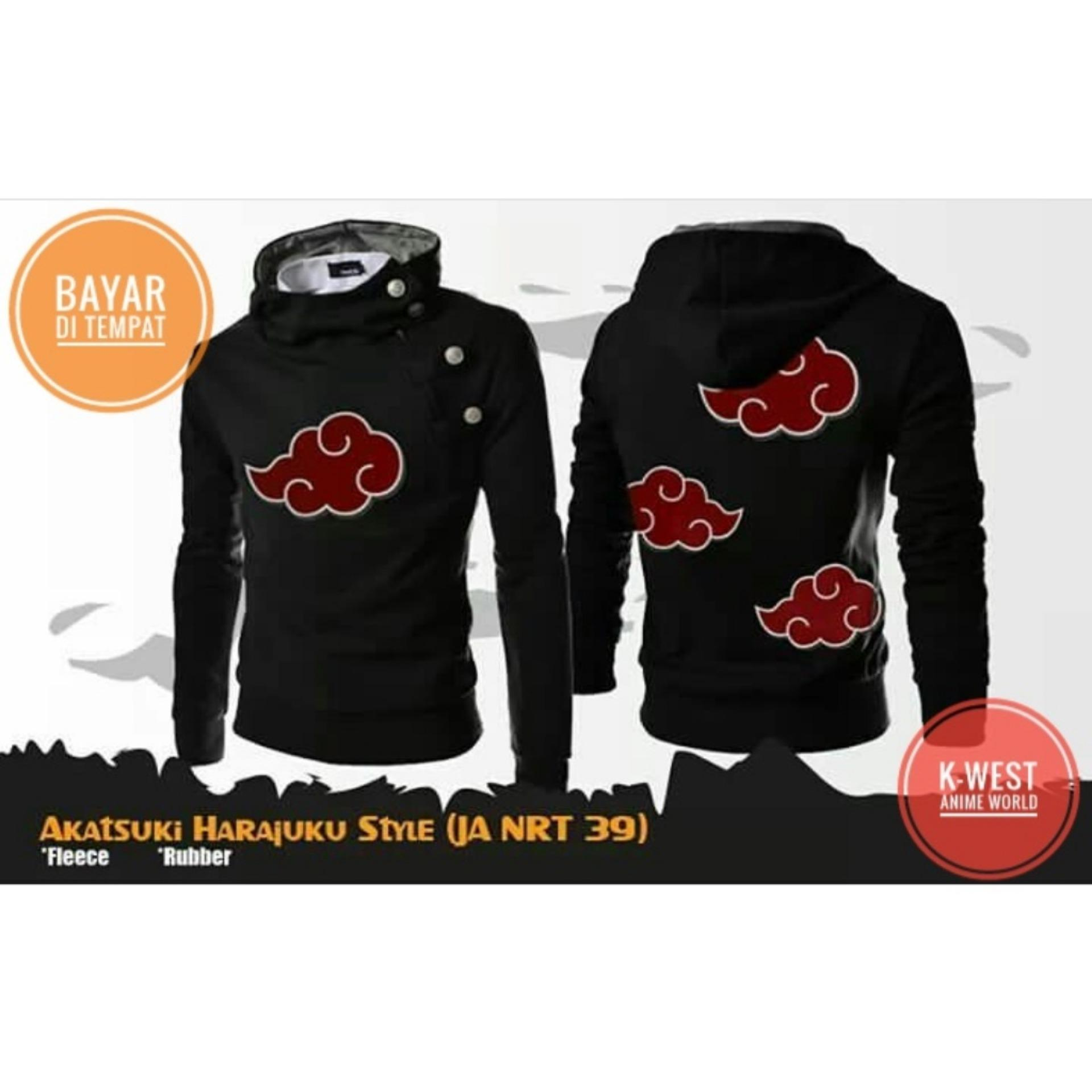 Review Toko Jaket Anime Naruto Akatsuki Harajuku Hoodie Zipper Best Seller
