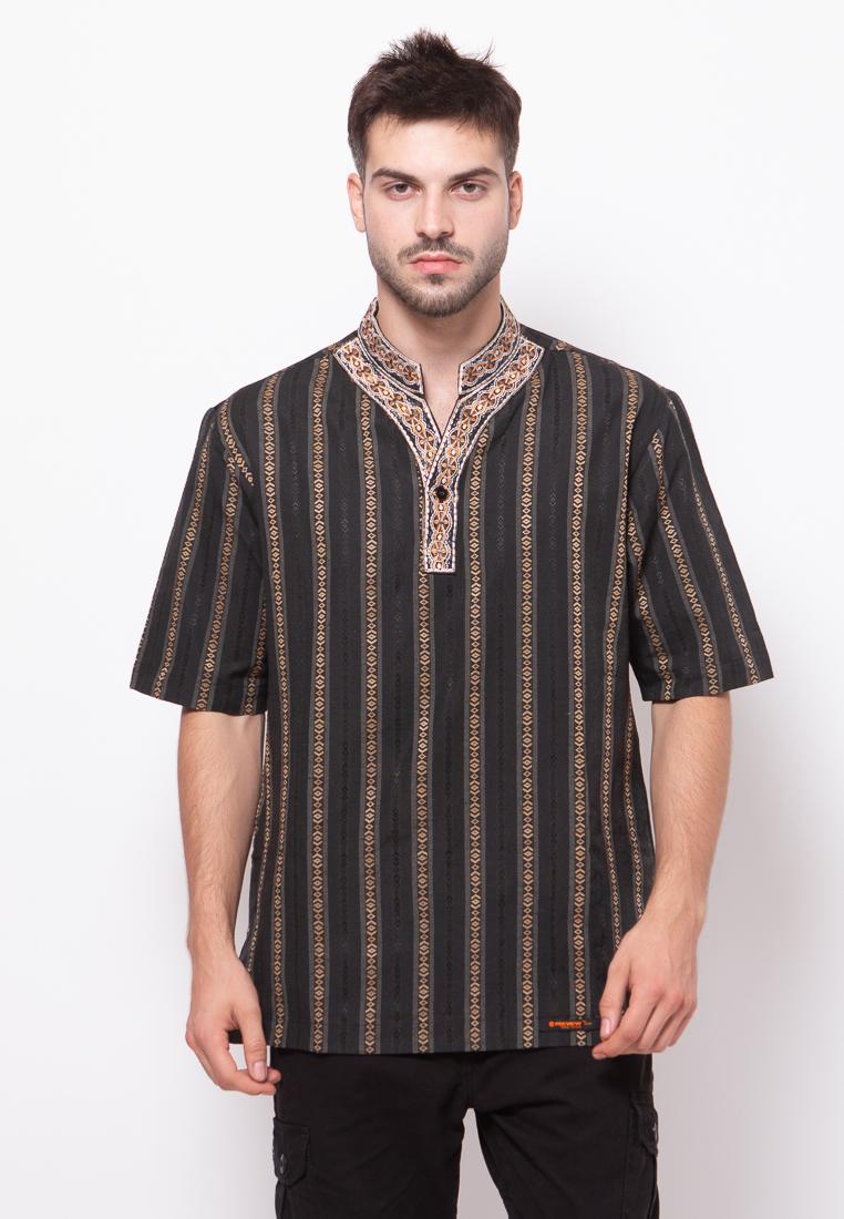 Fitur Preview By Itang Yunasz Iy001 Baju Koko Hitam Bordir Dan Harga Busana Muslim Pria Lengan Panjang Kafa Katun Minyak Detail Gambar Terbaru