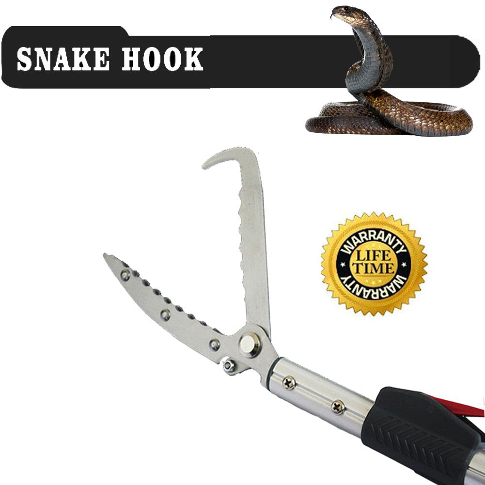 Yomyray 150cm Extendable Snake Tong Reptile Grabber Rattle Snake Catcher  Wide Jaw Handling Tool with Lock a6fc207d94