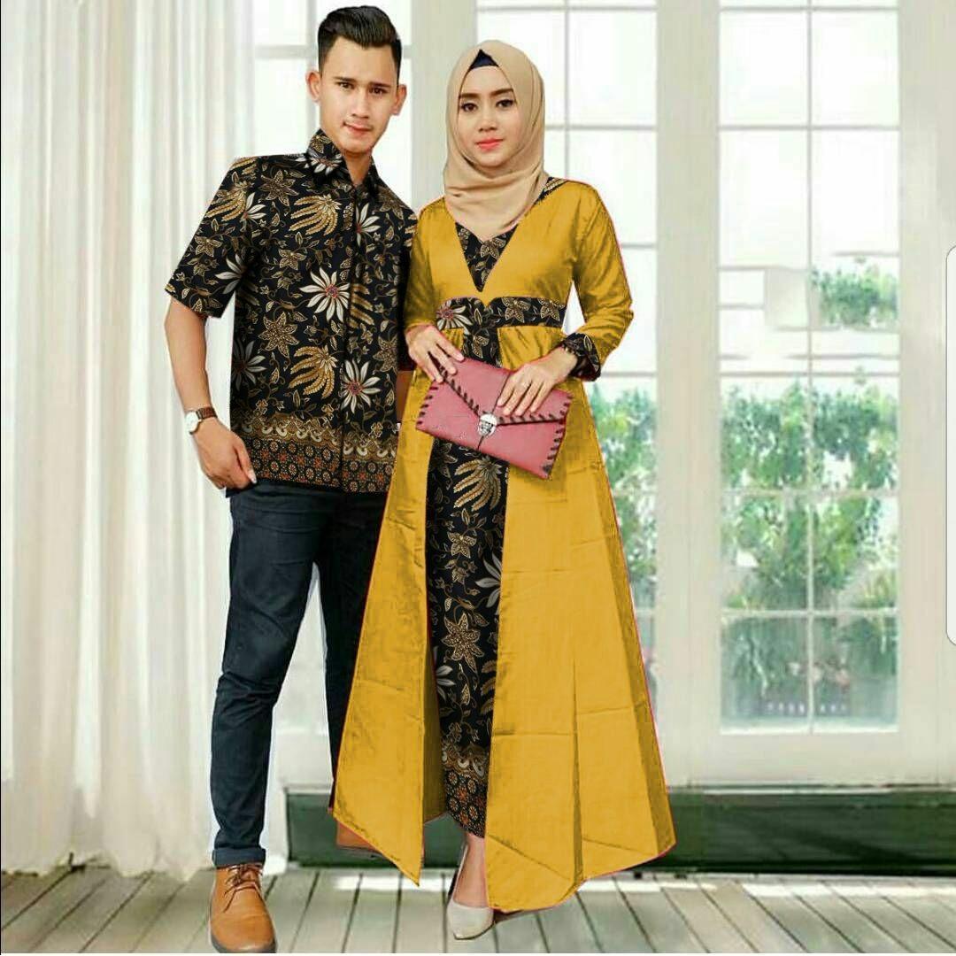 COUPLE MAXI KEMEJA ALGA MUSTARD MURAH BAJUGROSIRCEWEK Cp Batik WANITA