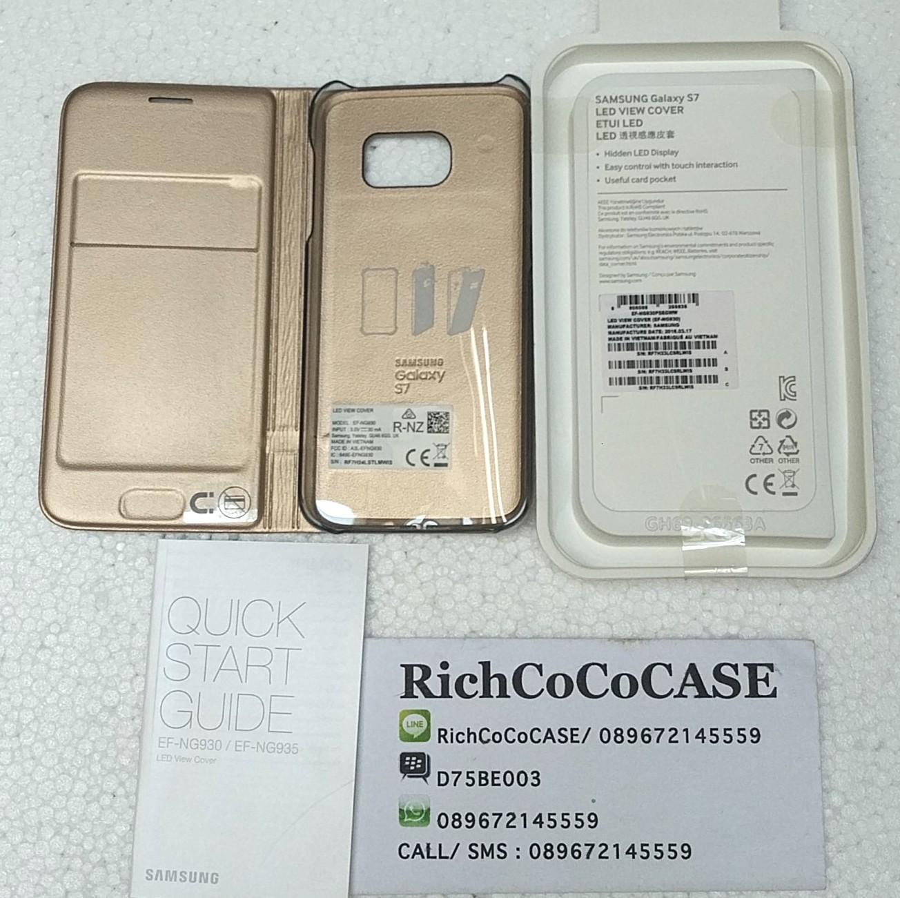 Galaxy S7 Flat LED View Cover Original Samsung - Gold
