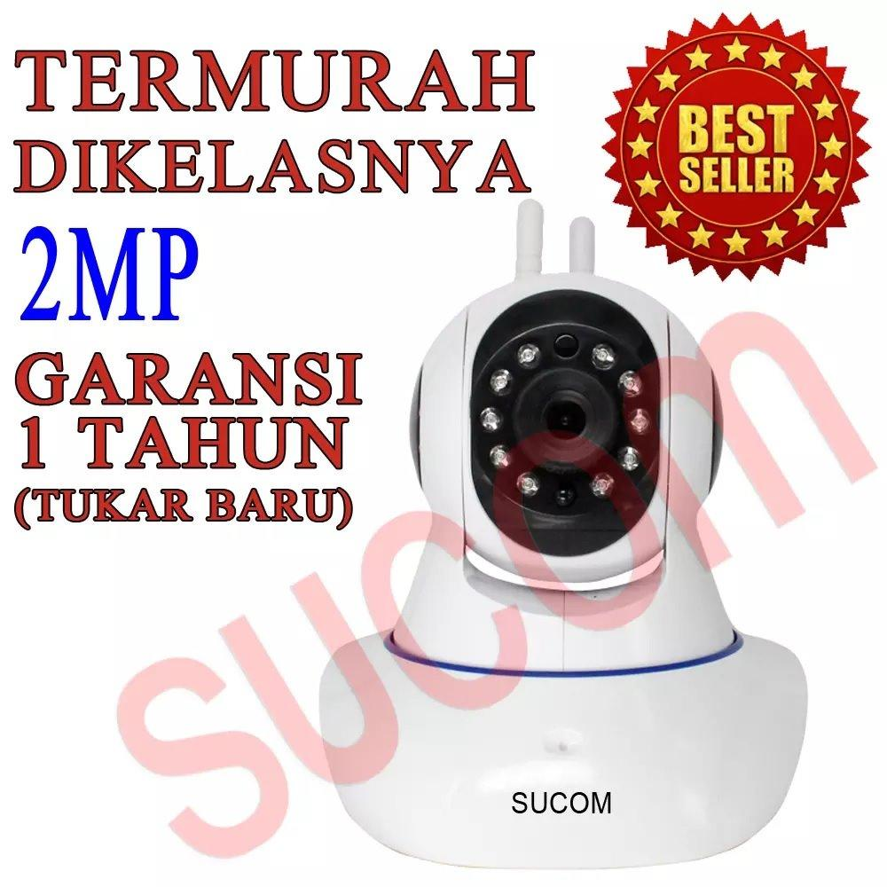 Murah New Kamera Rotating Ip Camera Terbaru / Security CCTV / Spy Cam / Wifi Wireless Wps, Hd 720p, P2p, Plug And View, Two Way Audio, Double Antenna, Support Android & Ios
