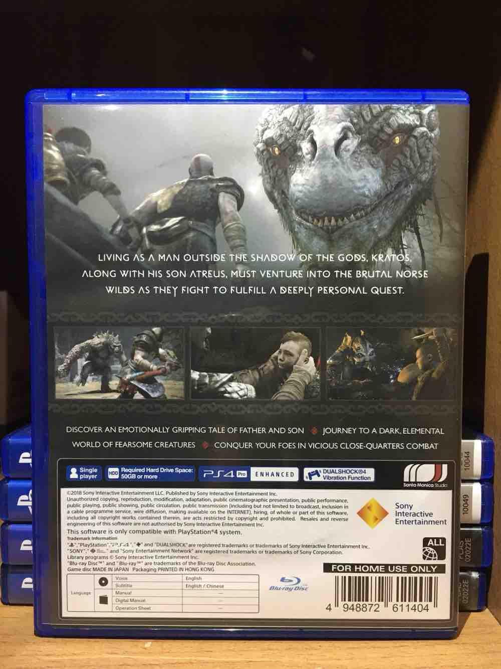 Features Bd Ps4 God Of War Reg 3 Dan Harga Terbaru Tempat Sony Nioh Standard Edition Reg3 2