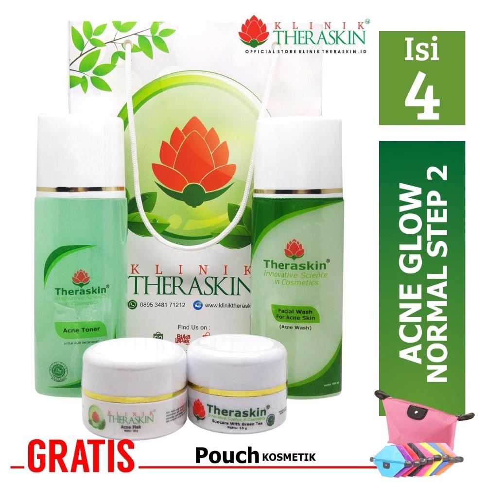 Beli Promo Theraskin Acne Flek Paket Untuk Menghilangkan Bekas Jerawat Memutihkan Untuk Kulit Normal Kombinasi With Acne Flek Cream Gratis Pouch Online