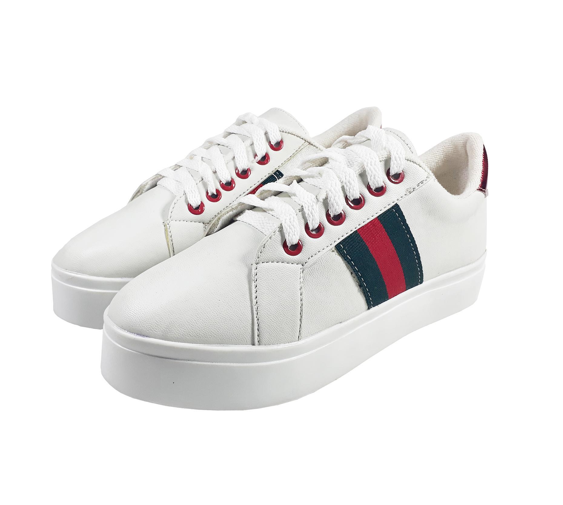 Detail Gambar Sepatu Kets Sneakers Wanita Fashion Model GC SP 01 Warna Putih Terbaru