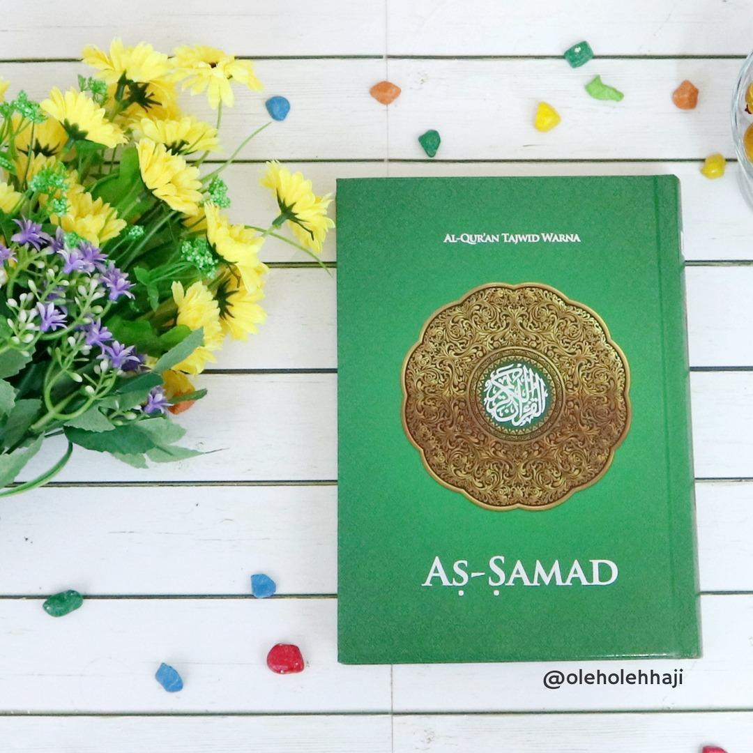 Al Quran As Samad Mushaf Tajwid Warna Tanpa Terjemahan Hardcover A5 - Hijau