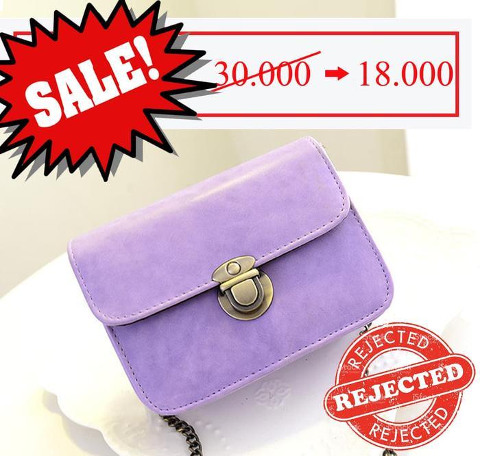 BARANG REJECT Tas Pundak Mini Retro Packet Chain Shoulder Bag BTA029