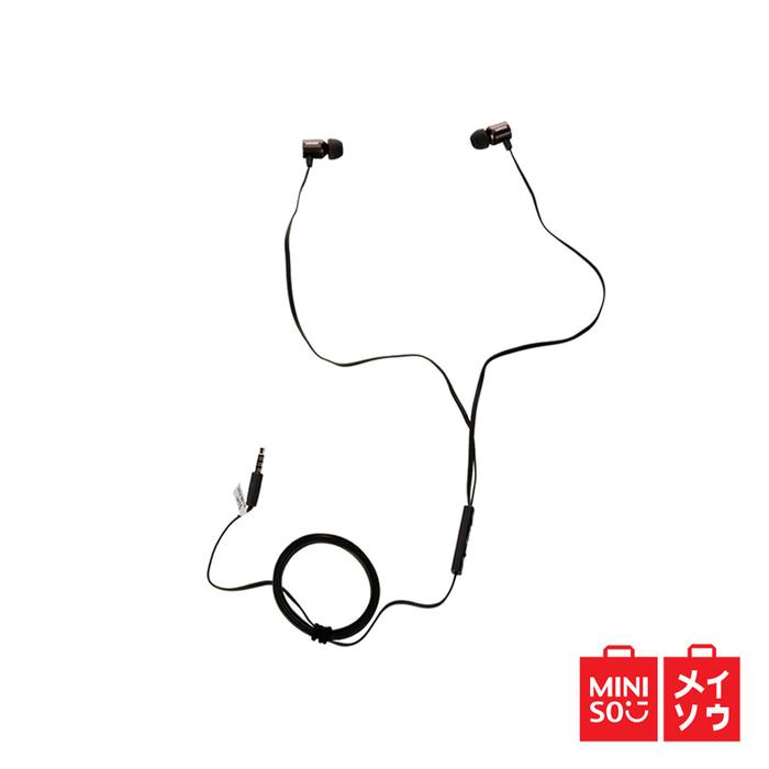 Miniso Official Earphone Metallic in Ear (Gray) (05MN-5119)