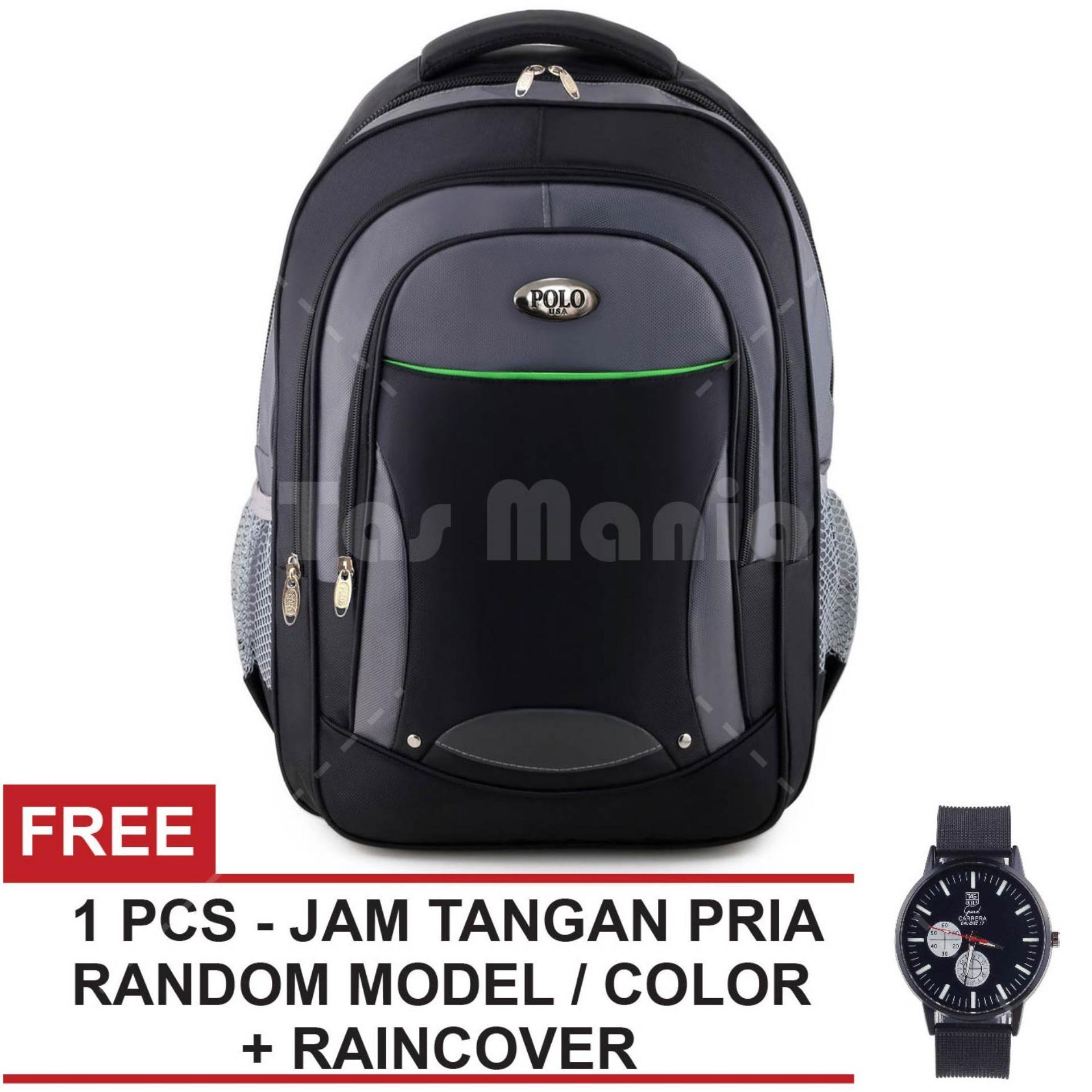 Promo Tas Ransel Polo Usa Sheldrake Dailypack Tas Laptop Casual Backpack Black Raincover Free Jam Tangan Pria Tas Pria Tas Kerja Tas Fashion Pria Di Jawa Barat