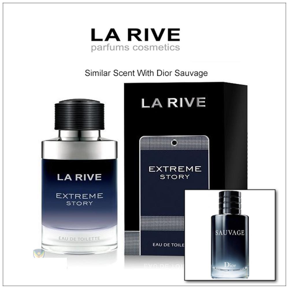 BEST SELLER! Parfum Original 100% Larive Extreme Story Man 100ml